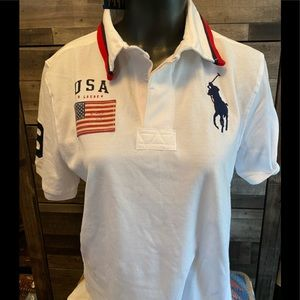 🇺🇸 Rugby US Flag big pony POLO 👕 🇺🇸